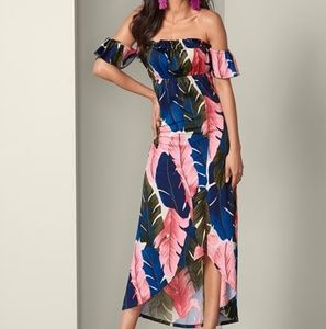 VENUS off the shoulder colorful maxi dress, size S